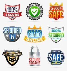 Guard labels vector image