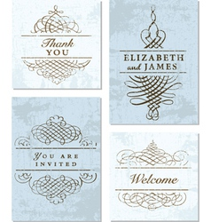 Collection elegant cards vector