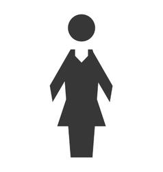 Woman icon pictogram female design vector