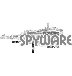 adware and spyware such a pain text word cloud vector image vector image