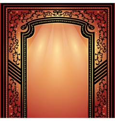 Background of decorative arch with ornament vector image