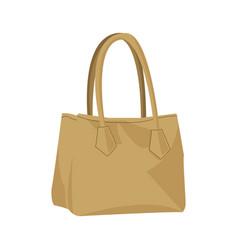 Beige fashion female woman purse handbag isolated vector