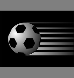 Black soccer ball symbol vector