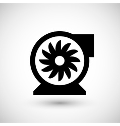 Centrifugal fan icon vector