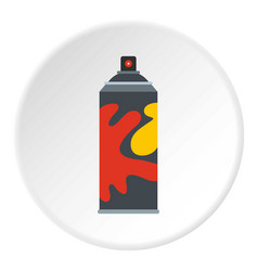 Colored spray icon circle vector