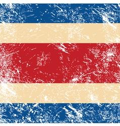 Costa Rica retro flag vector image