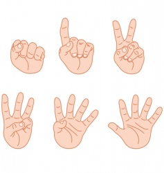 counting fingers vector image vector image