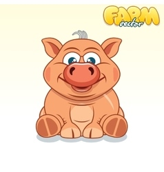 Cute Cartoon Pig vector image vector image