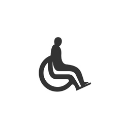 Disabled icon isolated on white background vector image vector image