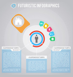Everyday life of businessman futuristic vector