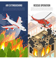 Fire department vertical banners vector