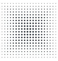 Halftone background black dots on white vector