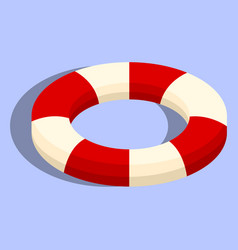 isolated lifebuoy or swimming ring vector image
