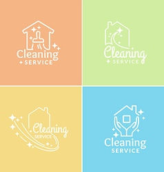 Logo cleaning service vector