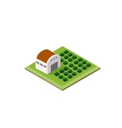 Rural farm in isometric vector image vector image