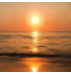 sea sunset with the sun vector image vector image