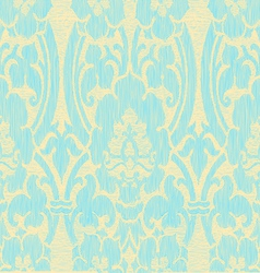 Seamless light abstract striped floral pattern vector image