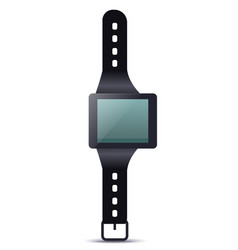 smartwatch device with blank screen vector image vector image