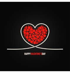 Valentines day concept design background vector