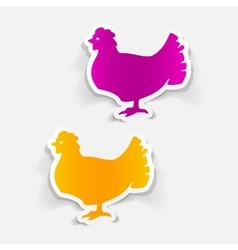 Realistic design element chicken vector