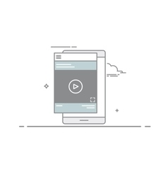 Video design concept player or tutorial in the vector
