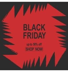 Grunge Black Friday Sale banner red color angles vector image