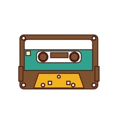 Cassette old record icon vector