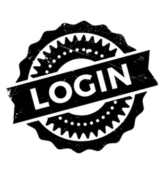 Login stamp rubber grunge vector