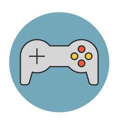 joystick flat line icon vector image