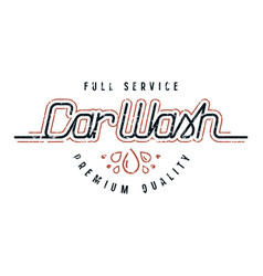 car wash emblem vector image