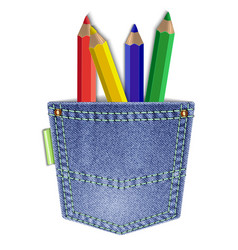 Pocket with pencils vector
