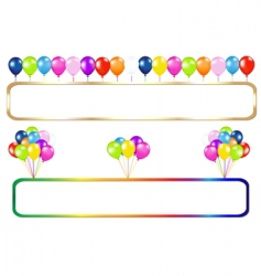 Frame with balloons vector