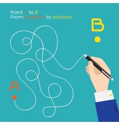 Point a to b flat pen route vector