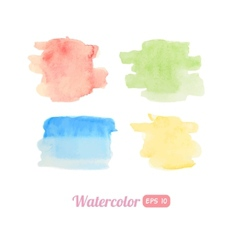 Set of watercolor stains vector