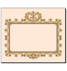 Blank ornate frame invitation with copy space vector