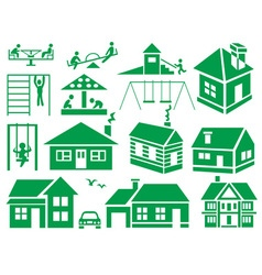 Playground and home vector