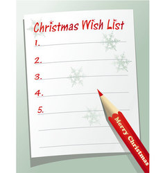 Christmas wish list vector image