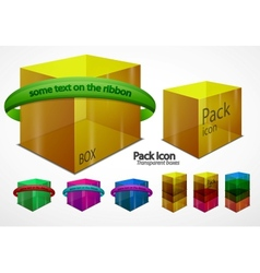 web boxes elements vector image