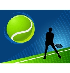 Sport background tennis vector