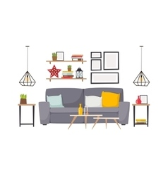 Apartment interior vector image