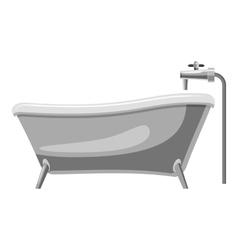 Bathtub icon gray monochrome style vector