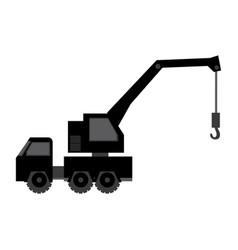 Black car crane icon vector