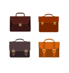 Briefcases icon set vector
