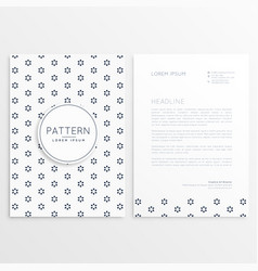 business flyer with minimal pattern vector image vector image