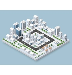 Cityscape city street vector