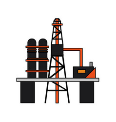 Colorful graphic industry refinery of petroleum vector