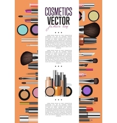 Cosmetics promo booklet title page template vector