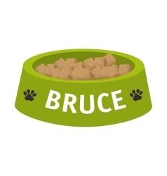 Dog dish object vector