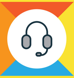 earphone colorful outline symbol premium quality vector image