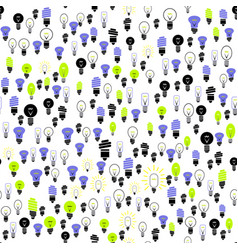 electric lamp seamless pattern vector image vector image